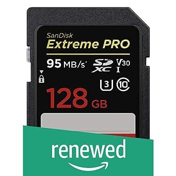 SanDisk Extreme Pro - Tarjeta de Memoria SDXC de 128 GB, hasta 95 ...