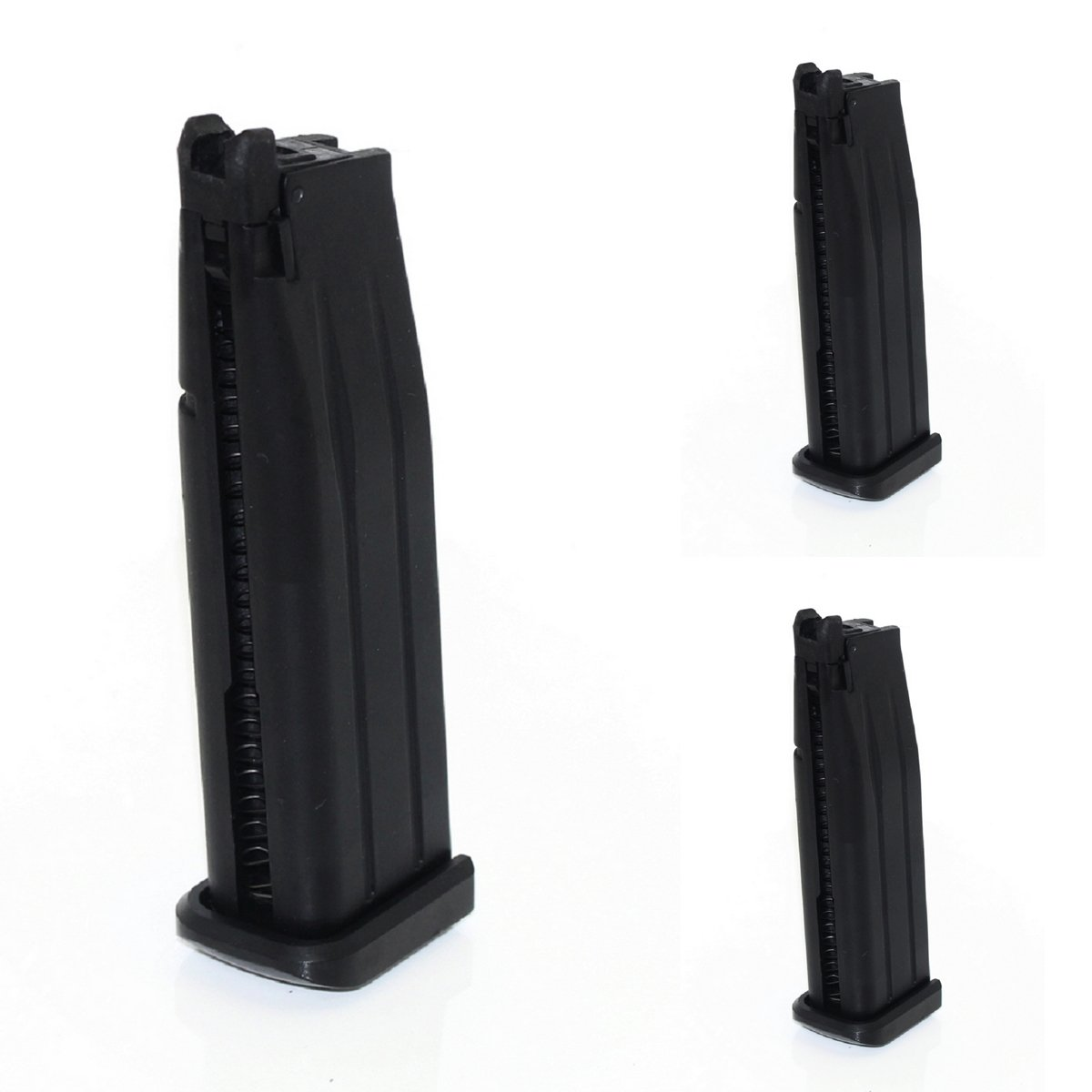 Airsoft Shooting Gear Army Force 3pcs 31rd Mag For Marui Hi-Capa 5.1 GBB Black