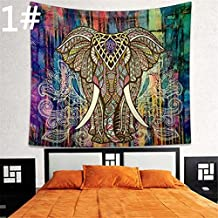 Indian Animal Bohemian Elephant Wall Hanging Hippie Tapestry Throw Blanket Boho Yoga Mat Beach Towel Wall Hanging Bedspread Mat Colorful
