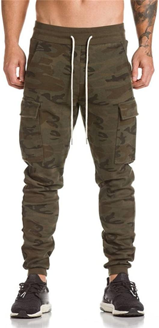 Men Pants Slim Fit,Lelili Durable Adjustable Waist Drasting Sweatpants Casual Jogger Trousers With Sides Pockets