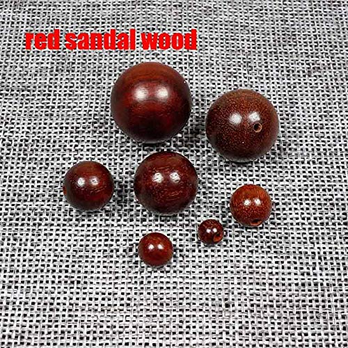 - Best Quality - Beads - 20Pcs/Lot Round Natural Wood Beads 6-20Mm Sandalwood/Rosewood/Padauk Wooden Spacer Beads DIY Jewelry Making Finding - 1 Pcs