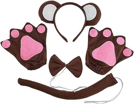 Amosfun - Juego de Disfraz de Mono para niños: Amazon.es ...