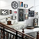 LQQGXL Real wood composition photo wall creative living room frame background wall decoration Photo frame