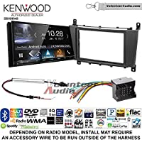 Volunteer Audio Kenwood DDX9904S Double Din Radio Install Kit with Apple CarPlay Android Auto Bluetooth Fits 2005-2007 Mercedes C Series