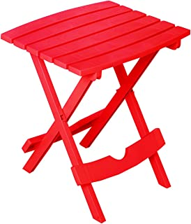 """product image for Adams Quik Fold Side Table 19.75"""" H X 15.25"""" W X 17.375"""" D Cherry Red 25 Lb. Capacity"""