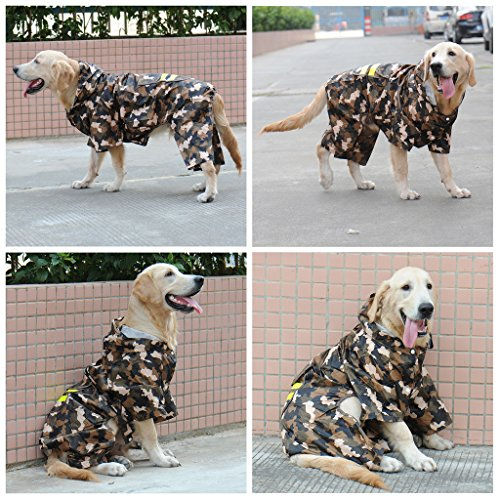 Mcitymall77 impermeable para perro grande Chubasquero Chaqueta Abrigo Impermeable para Mascotas Perro (XL ,Camouflaje): Amazon.es: Hogar