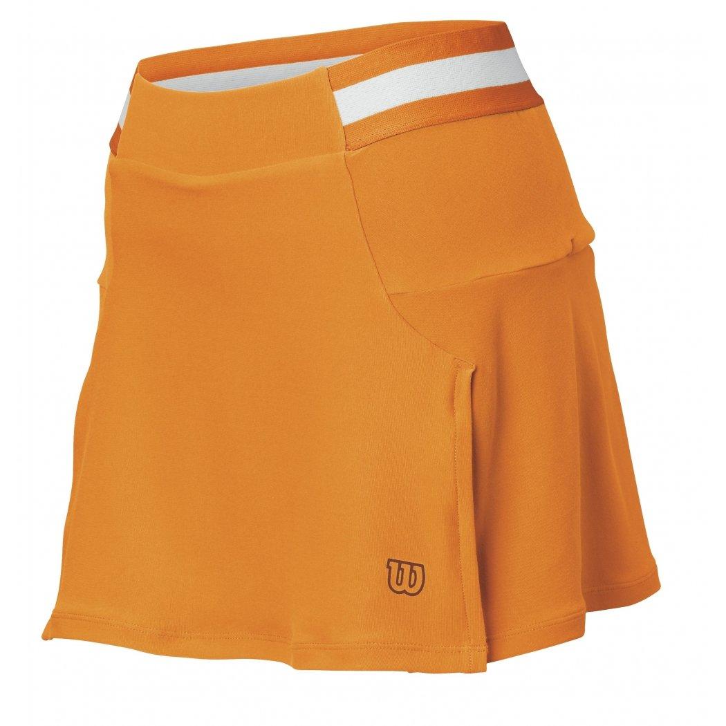 Wilson - Falda de Tenis para Mujer, Color Naranja, Talla S: Amazon ...