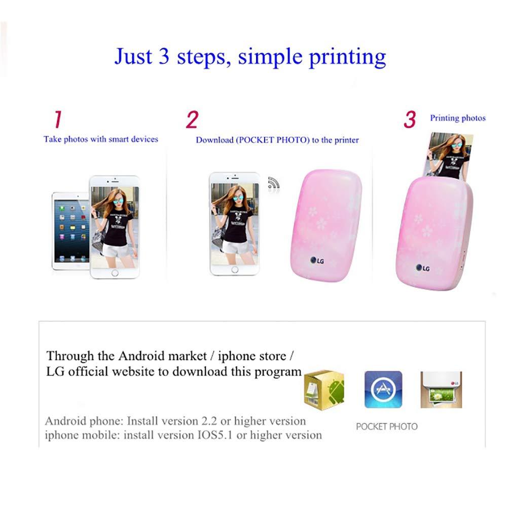 SFXYJ Mobile Phone Photo Printer Mini Portable Pocket Color Wireless Home Small Photo Print,A by SFXYJ (Image #3)