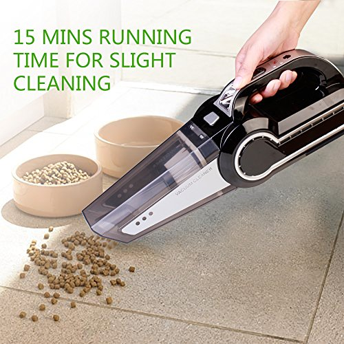 Cordless Vacuum, 12V 120W Portable Cordless Vacuum Cleaner, Wet & Dry Hand-held Car Vacuum for Home or Car with 4KPa Suction, Pet Hair Eraser, LED Light by Dr. Auto by Dr.Auto (Image #2)