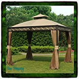 Gazebo Metal Steel 10 X 12 Roof Outdoor Patio Aluminum Canopy Tent Party W Poles Sunjoy Pergola Arbor Arch Deck Shade Sun Grill New Guarantee with Its Only Ebook Review