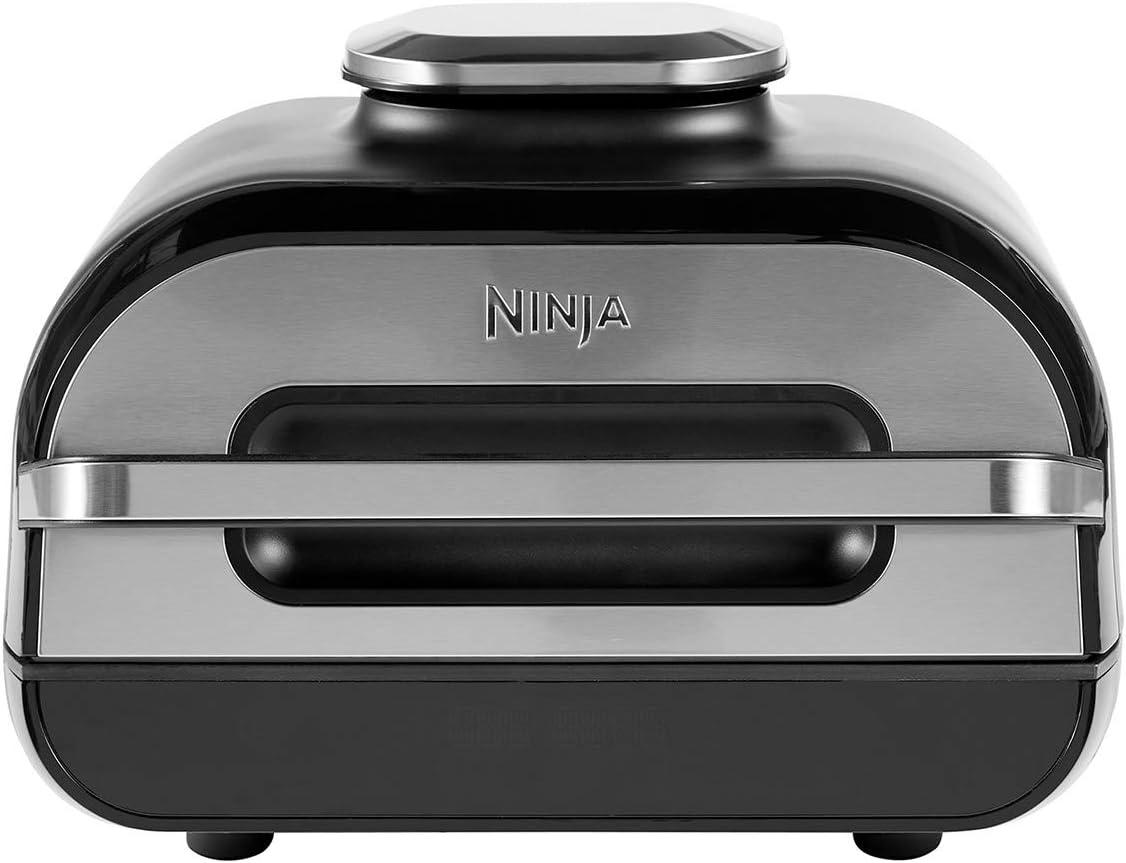 Ninja Foodi MAX Parrilla y Freidora de Aire con Sonda Digital, 5.7 l, 6 Funciones de Cocción, 2460 W, 3.8 litros, Non-Stick Ceramic Coated, Gris/Plata: Amazon.es: Hogar