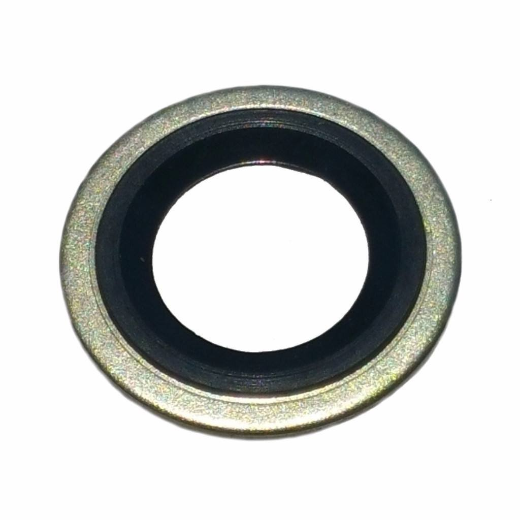 Buy Auto Supply # BAS03501 (100 Count) M14 Metal Rubber Oil Drain Plug Gasket Aftermarket Replacement for 097-025, 65269 Ford F3DZ-6734-A F77Z-6734-AB & More (24.45mm O.D/13.5mm I.D)