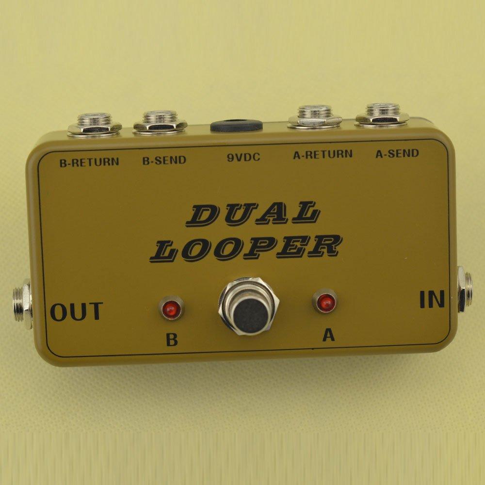 New True-Bypass Looper Effect Pedal Guitar Effect Pedal Looper Switcher true bypass guitar pedal Light Black dual Loop ArmyGreen switch