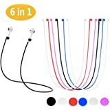 AirPods Strap, Soft Silicone Sport Earphones Anti-lost Strap, Colorful Wire Cable Connector For Apple Airpods Wireless Bluetooth Earphones (Never Lose Your AirPods)