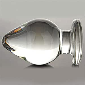 VAHPPY1 piece Extra Large Huge Head Glass Anal Plugs G