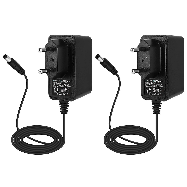 EFISH 12V 1A Adaptador de Fuente de alimentación del Transformador,cámara CCTV,Teclado Yamaha,enrutadores,concentradores,Tiras de ...