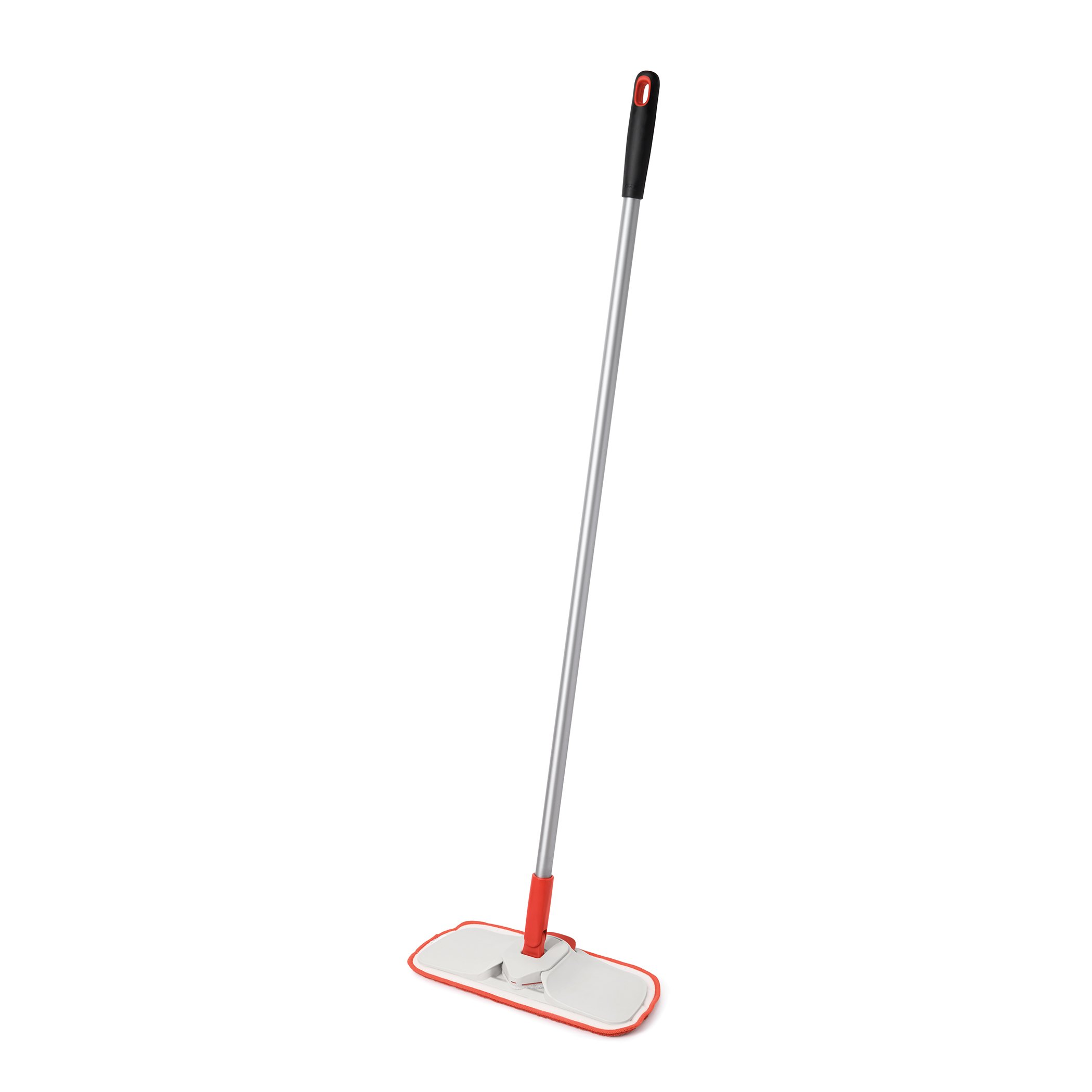 OXO Good Grips Microfiber Floor Duster with Slide-Out Scuff Remover