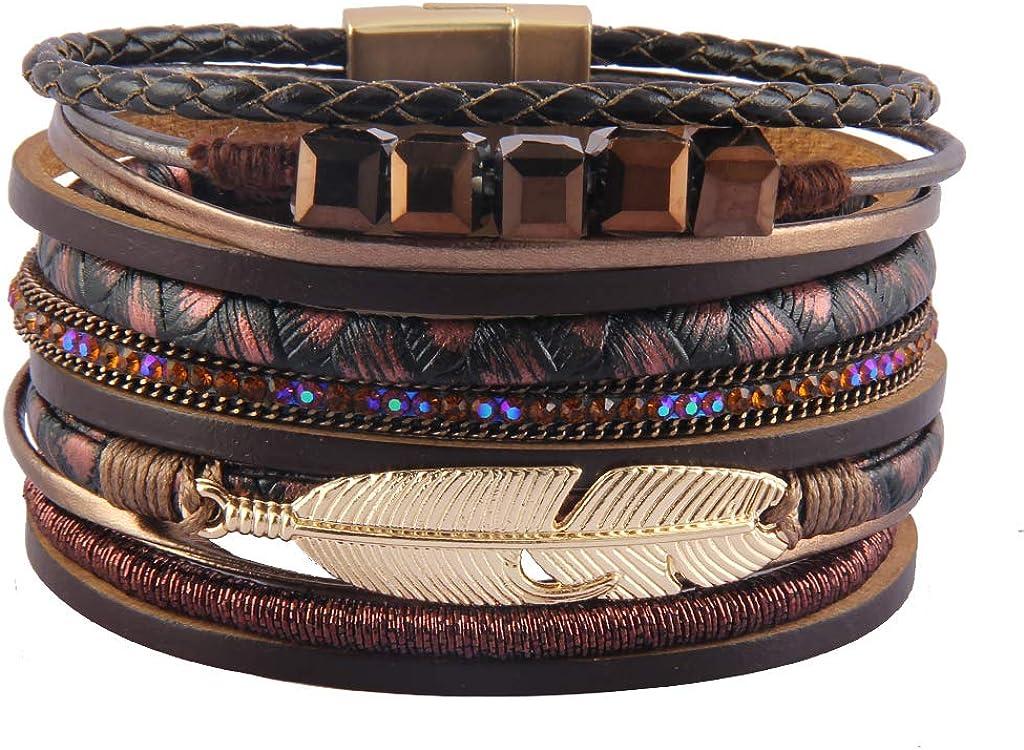 Jenia Feather Wrap Bracelet...
