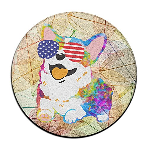 Corgi American Flag Patriotic Sunglasses Non-slip Mats Circular Carpet Mats Dining Room Bedroom Carpet Floor Mat 23.6 - Usa Student Discount Glasses