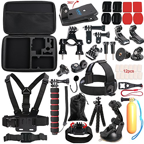 SUREWO Outdoor Sports Accessories Kit for Gopro Hero 6/5/4 Black Hero 5/4 Session 4 Silver 3+ SJ4000/5000/6000 Xiaomi Yi and Sony Sports Dv and More(33 Items) Tripod Accessory Kit