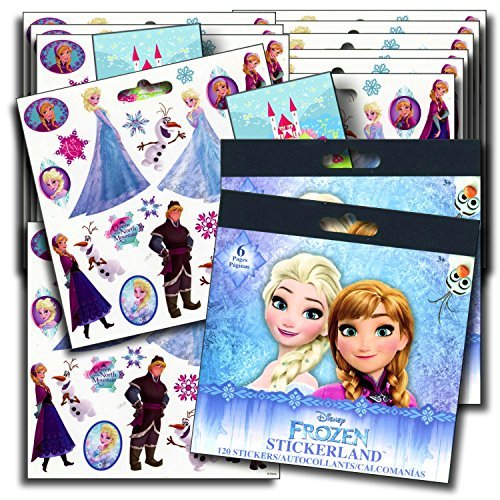Disney Frozen Stickers Party Favors 16 Sheets]()