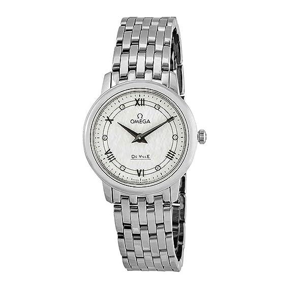 Omega de Ville Prestige - Reloj para Mujer con Esfera de Diamante de Color Blanco 424.10.27.60.52.002: Amazon.es: Relojes