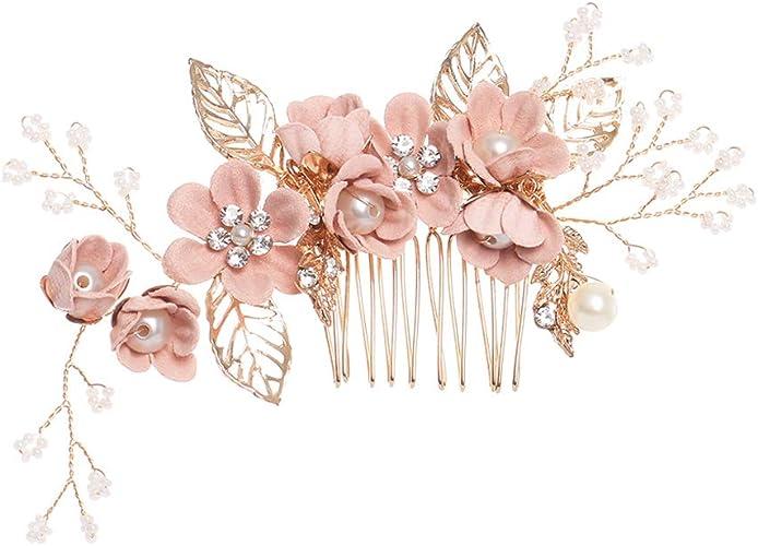 6cm rose clair strass pince à cheveux diapositive barrette accessoire mariée bal mariage n