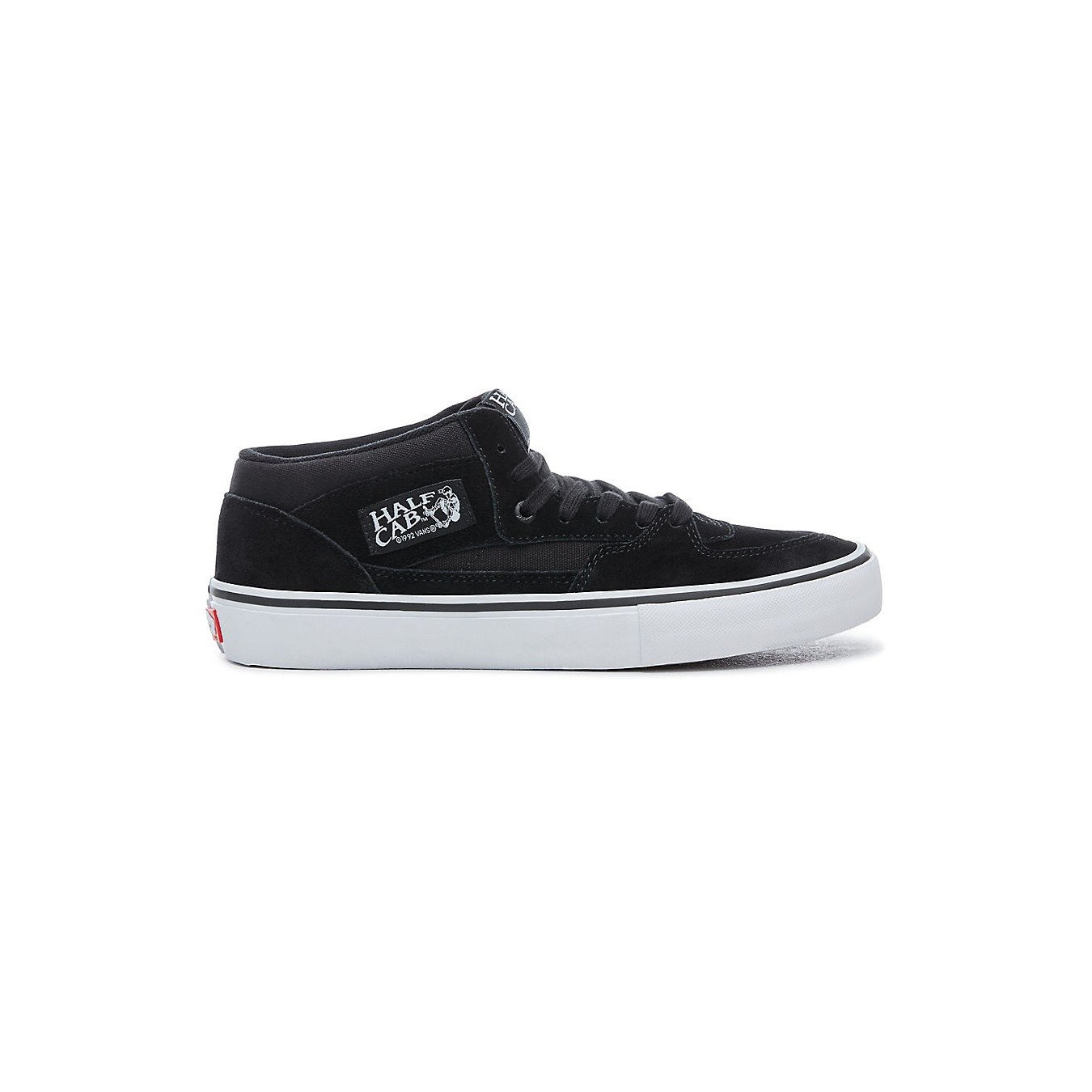 e259de8095b3fb Galleon - Vans Men s Half Cab Pro Shoes Black Black White 9.5