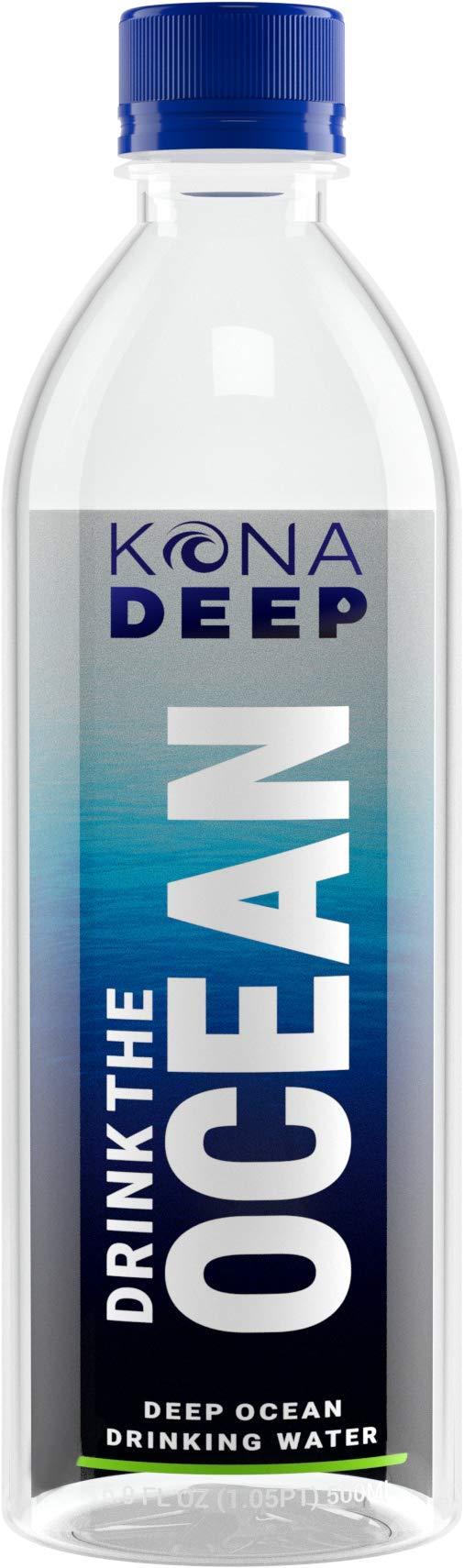 Kona Deep Pure Deep Ocean Electrolyte Mineral Water Bottles (500 ML), 24 Count by Kona Deep