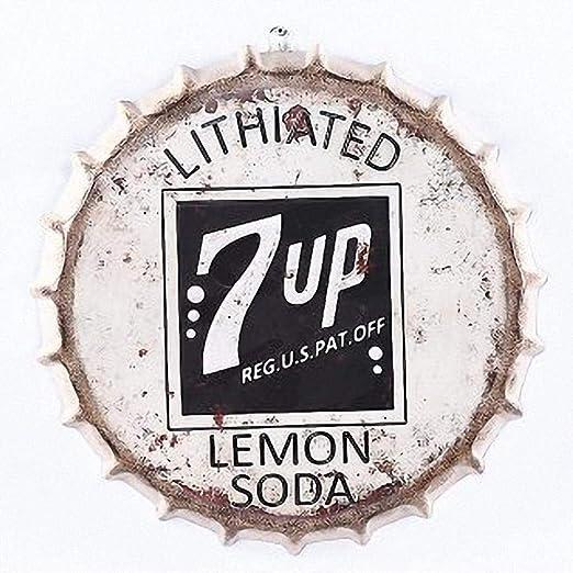 7 UP Grande 3D Cubierta de la Cerveza Cartel de Chapa ...