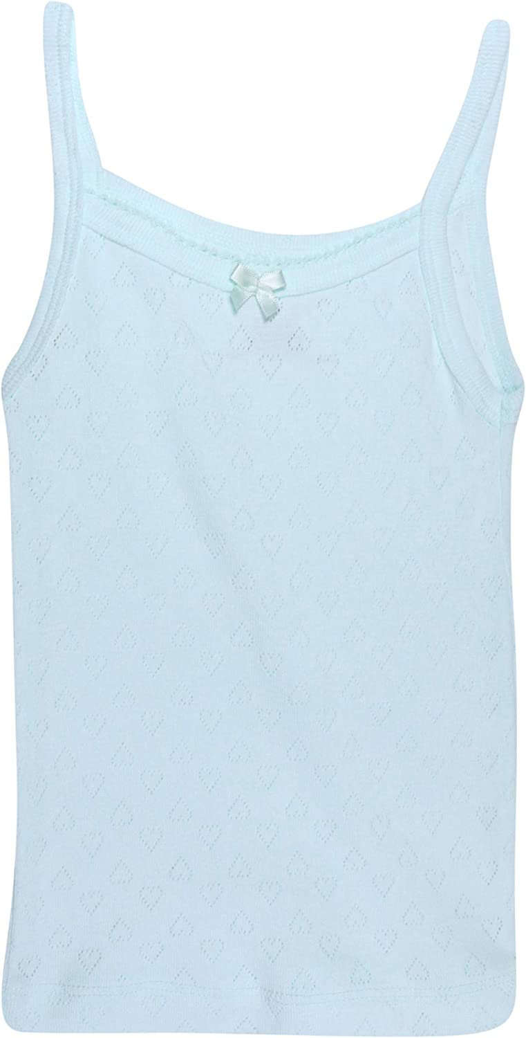 4 Pack Super Soft Pointelle Camisole Tank Top Rene Rofe Girl Florals//White, 3T