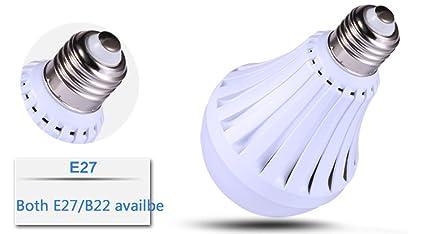 JKLcom Emergency LED Light Bulb 4Pack, 9W Emergency Light Bulbs Portable Emergency Lamp Rechargeable Bulb Household Light Bulbs for Hurricane Power Outage ...
