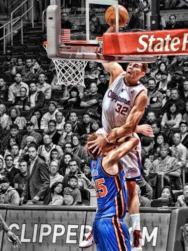 Blake Griffin Monster Dunk Mozgov NBA Print Poster