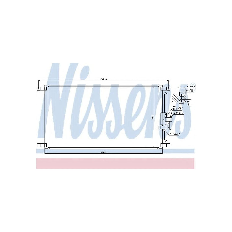 air conditioning Nissens 940103 Condenser
