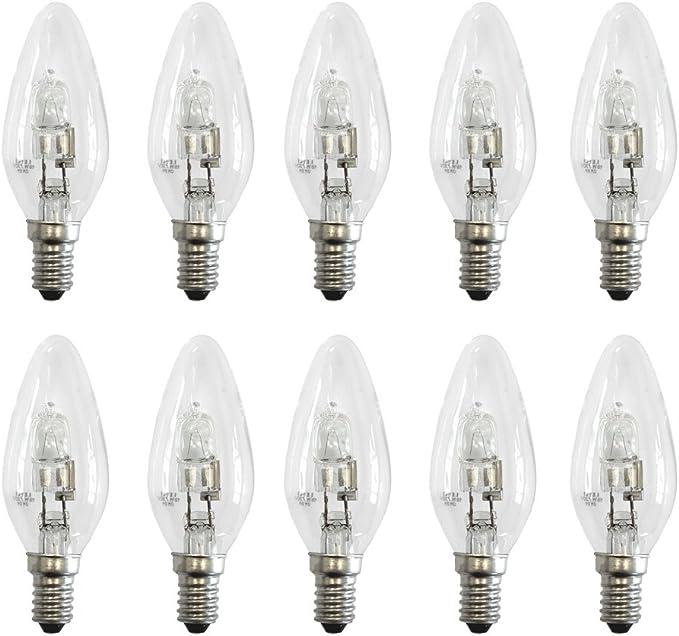 10 x Halogen Glühbirne dimmbar warmweiss E14 Kerze Mini-Globe18-42 Watt