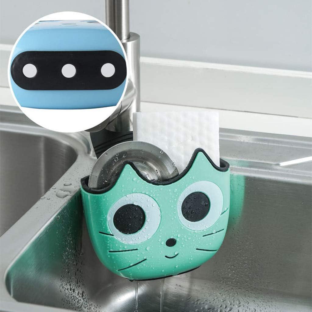 Moent - Bolsa para colgar en el hogar, cocina, bolsa de filtración de agua, para almacenamiento de baño, lavabo, fregadero ajustable, bolsa para colgar, fregadero, pvc, Verde, As show