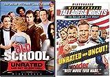 Old School + Talladega Nights The Ballad of Ricky Bobby DVD Will Ferrel Collection Comedy Set 2 Movie bundle