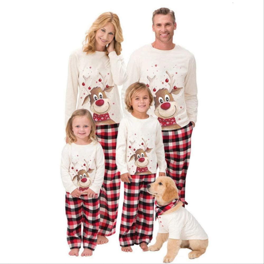 SDHFSKF PijamaFamilia A juego trajes ropa pijama de Navidad ...
