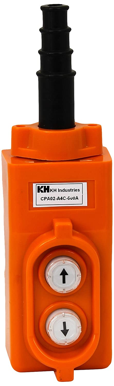 Direct controller for single phase 1-HP Inc KH Industries CPA02-A4C-000A 2 Push Buttons Pendant Control Switch