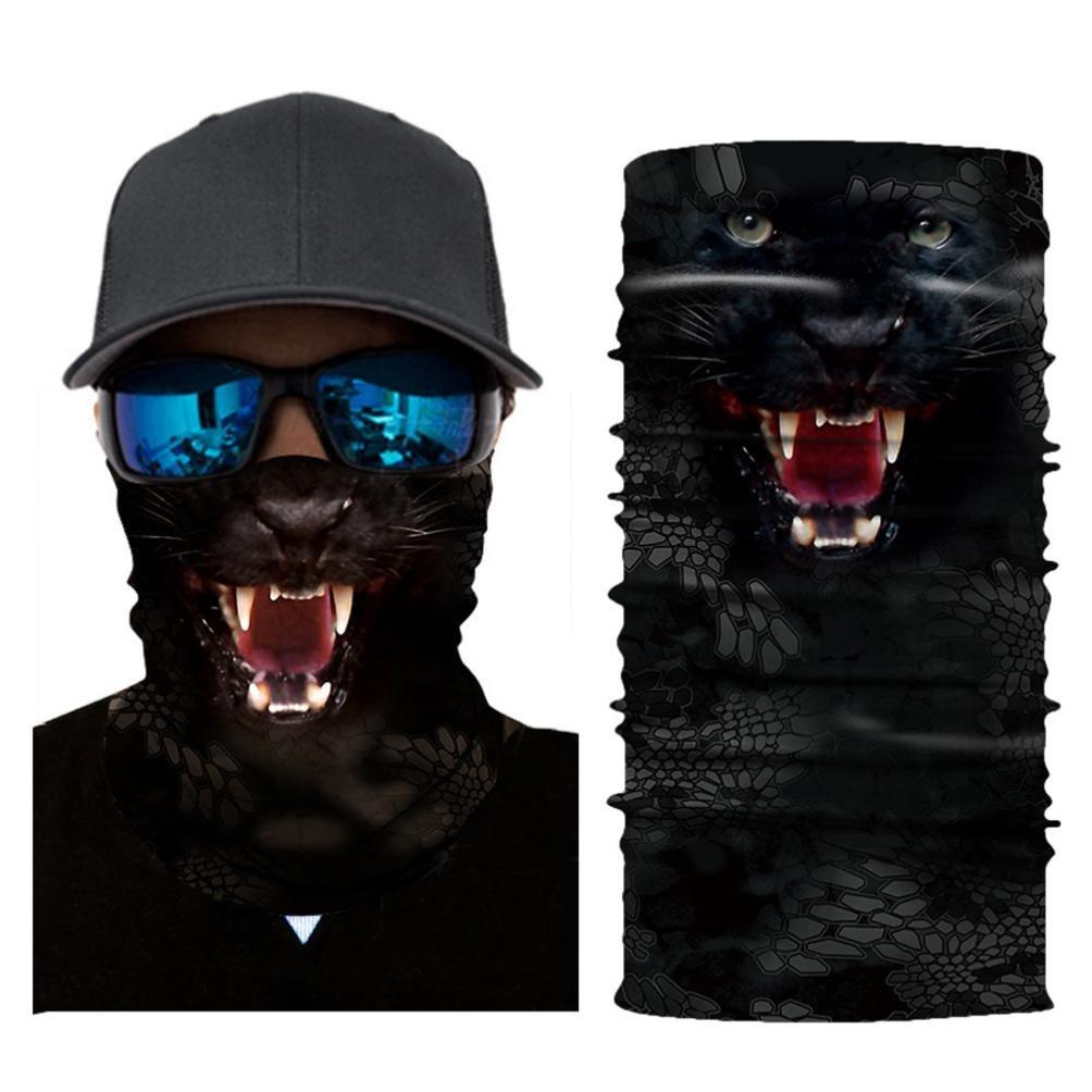 Y56 Cycling Face Masks - Animal Clown Mask Half Face Cycling Motorcycle Head Scarf Bike Neck Warmer Face Mask Ski Balaclava Headband Riding Sun Protector Anti UV Mask - Style B
