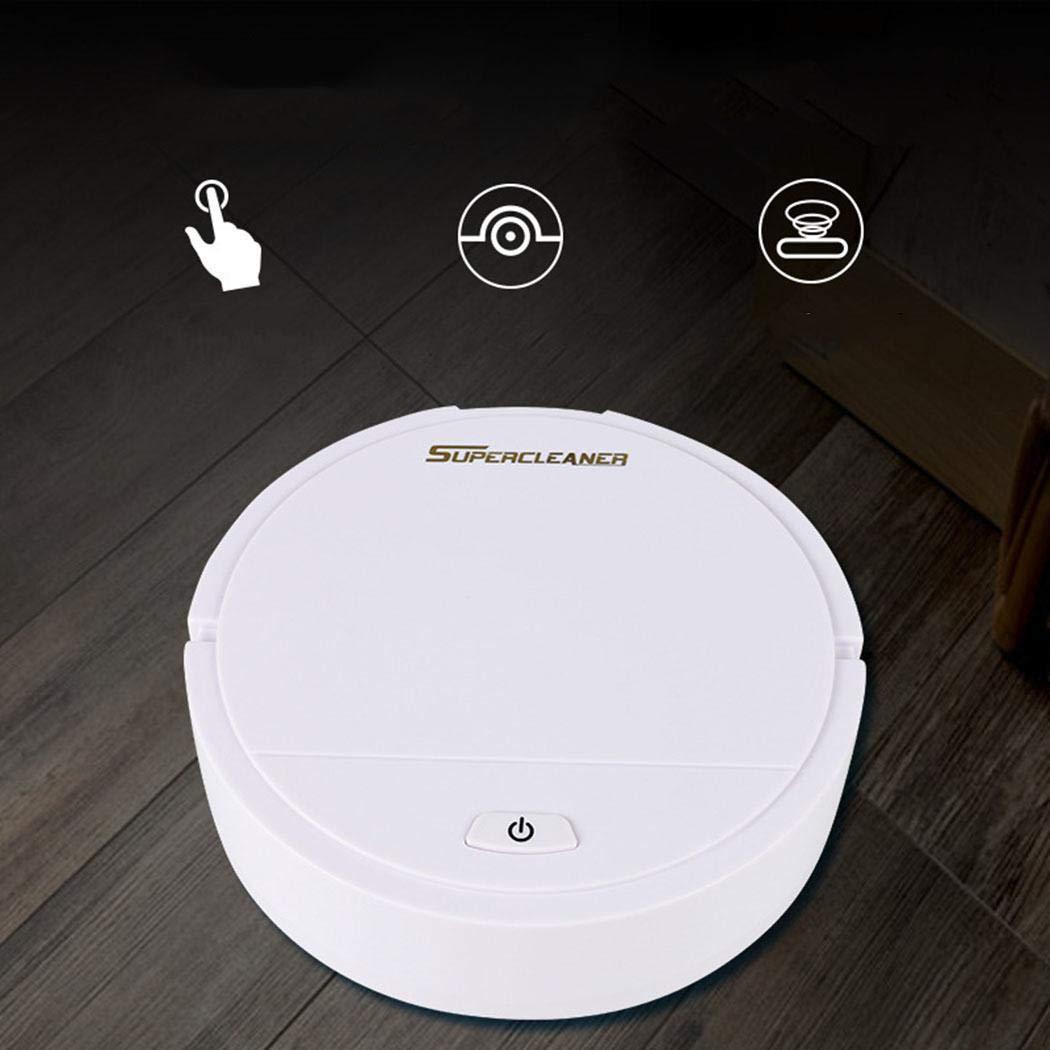 Kuerli Robot Aspirador, Limpiadores robóticos Limpiador Mini automático Smart Clean Robot Limpiador de Suelos Herramienta de Limpieza por aspiración: ...