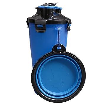 iHOY Botella de agua potable para mascotas, 2 en 1 Botella de agua potable para