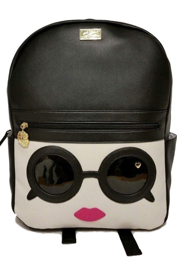 Betsey Johnson Black and White Sunglasses Backpack