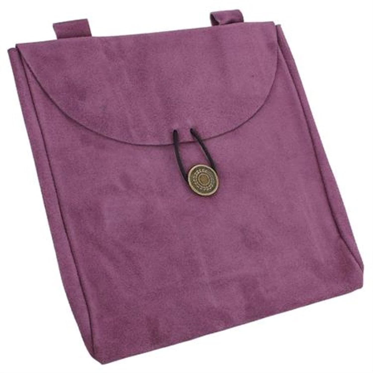 Deluxe Adult Costumes - Medieval Renaissance large lavender shade lavender suede leather belt pouch
