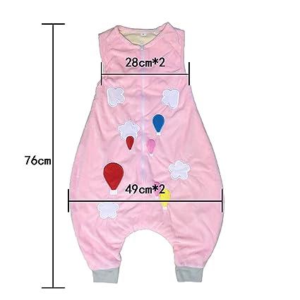 a7666d45a ZEEUAPI - Saco de dormir con piernas de franela para bebés niños infantíl  Ropa para dormir (S (1-3 años), Rosa-globo): Amazon.es: Hogar
