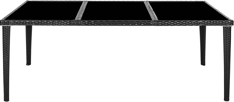 viti in acciaio inox CAPPA PIOGGIA 2 SET DI RIVESTIMENTI PERI CUSCINI PER POTER EFFETTUAR TecTake SET DI MOBILI DA GIARDINO ALLUMINIO RATTAN ARREDAMENTO ESTERNO SEDIE TAVOLO 8+1 NERO MARRONE