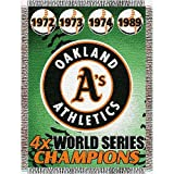 "MLB Oakland Athletics Commemorative Woven Tapestry Throw, 48"" x 60"""