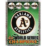 MLB Oakland Athletics Commemorative Acrylic Tapestry Throw Blanket