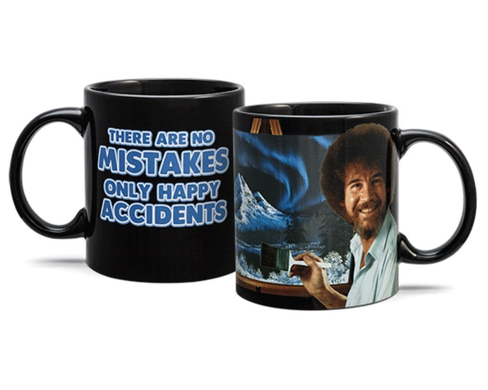 Limited Edition Bob Ross Heat Change Mug 16oz Coffee Cup - Happy Accidents