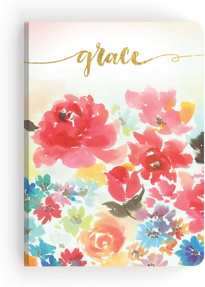 Paper House Productions JL3011 Black Floral Bloom Where Youre Planted Softcover Journal Dot Grid Notebook